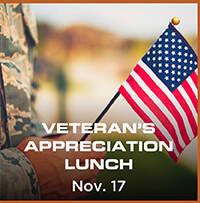 Veteran's Appreciation Lunch - Nov. 17