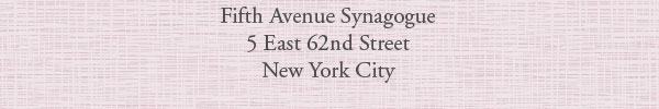 Fifth Avenue Synagogue, 5 East 62nd Street, New York City