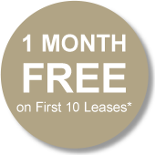 1 MONTH FREE on First 10 Leases*